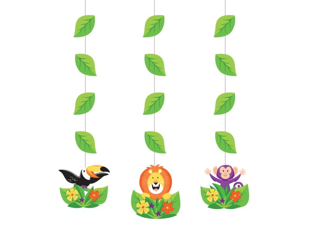 Jungle Safari Hanging Cutouts 3pk