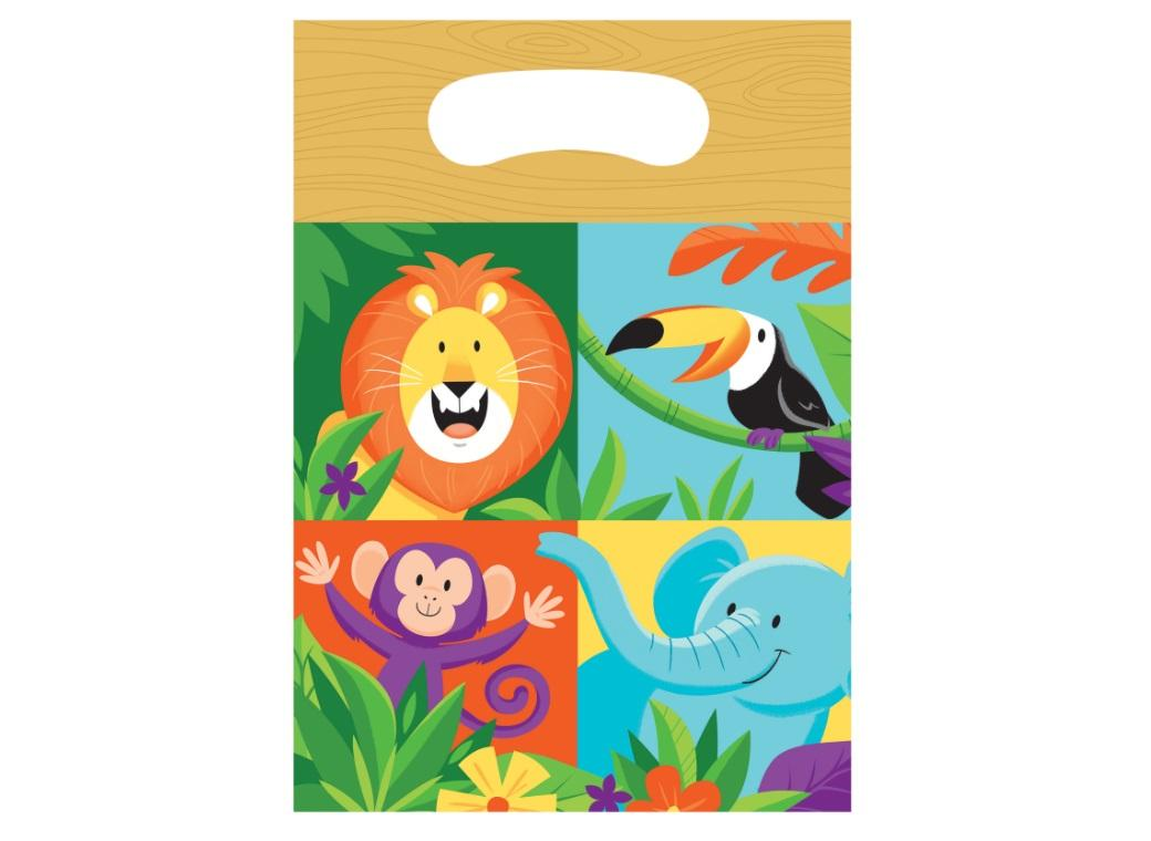 Jungle Safari Loot Bags 8pk