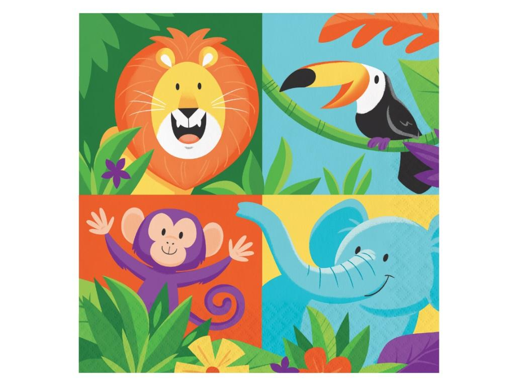 Jungle Safari Lunch Napkins 16pk