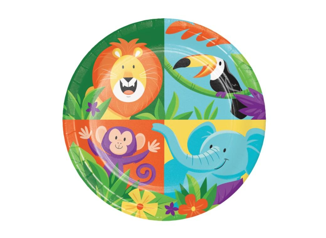 Jungle Safari Lunch Plates 8pk