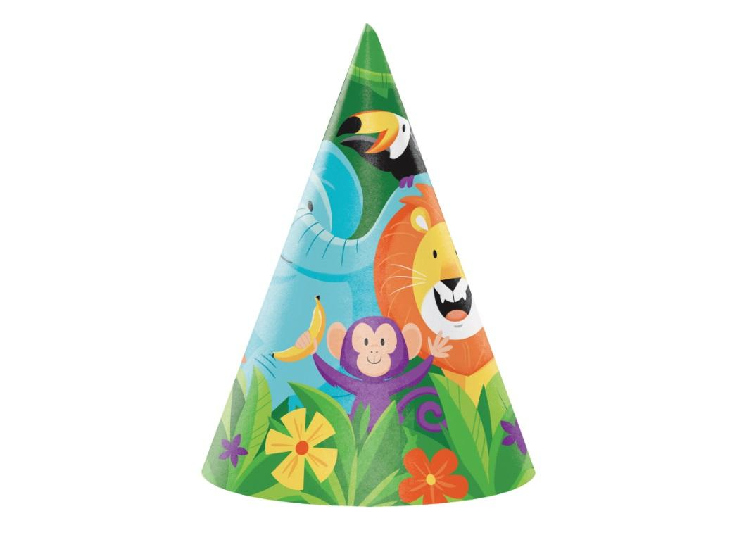 Jungle Safari Party Hats 8pk
