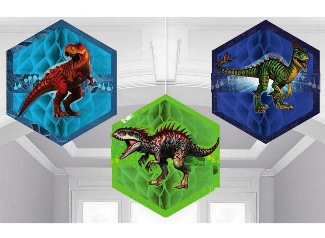 Jurassic World Honeycomb Decorations
