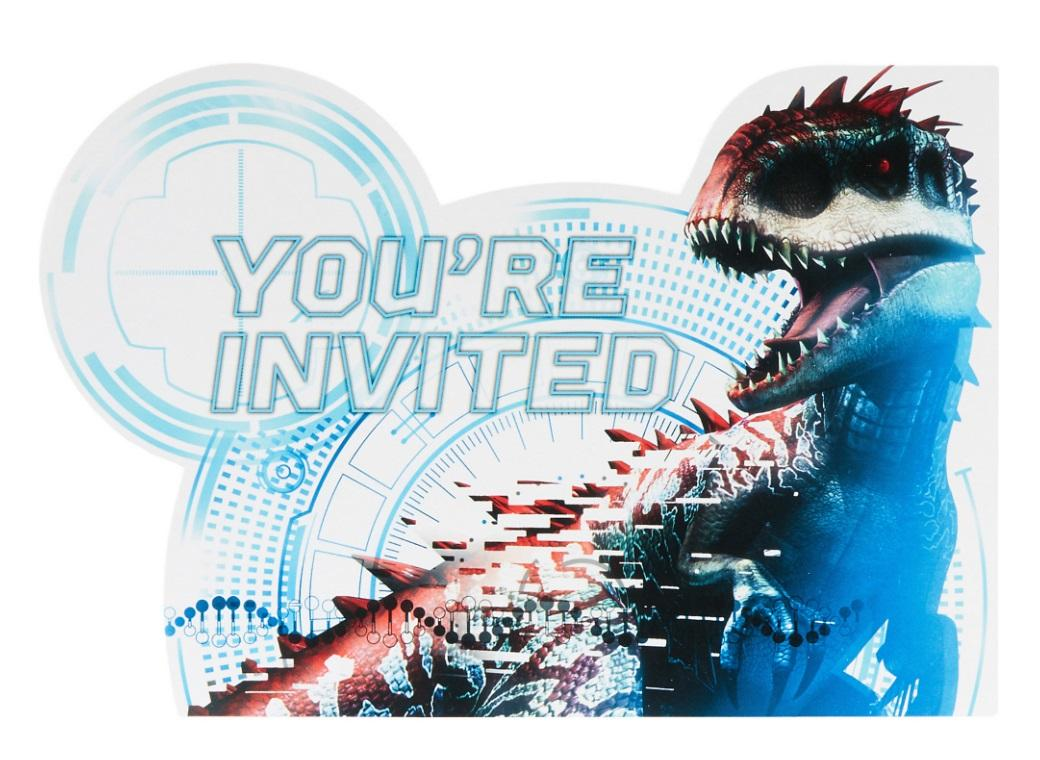 Jurassic World Invitations 8pk