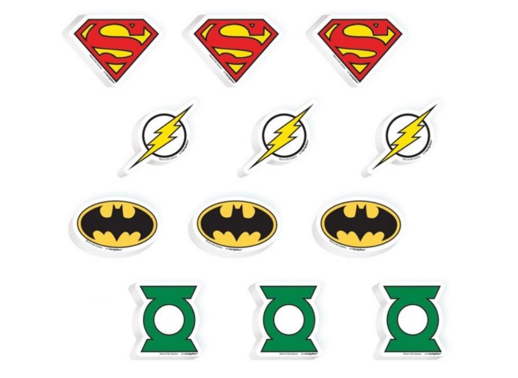 Justice League Erasers 12pk