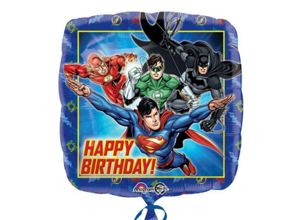 Justice League Foil Balloon - Happy Birthday
