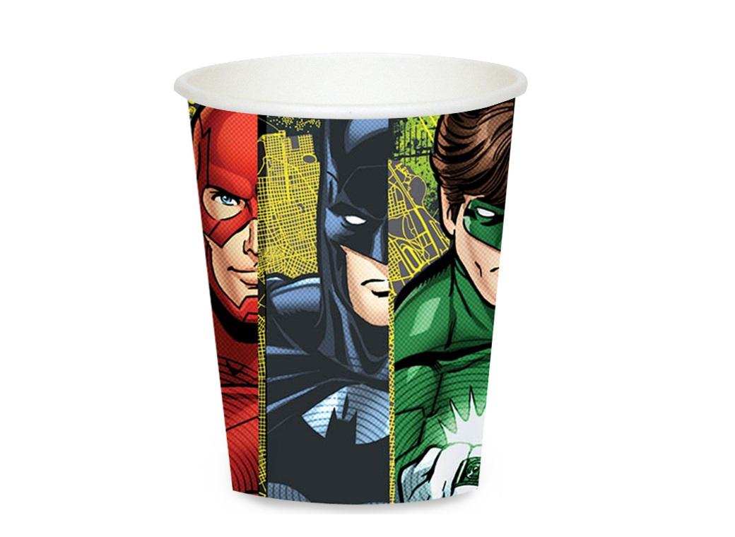 Justice League Paper Cups - 8pk