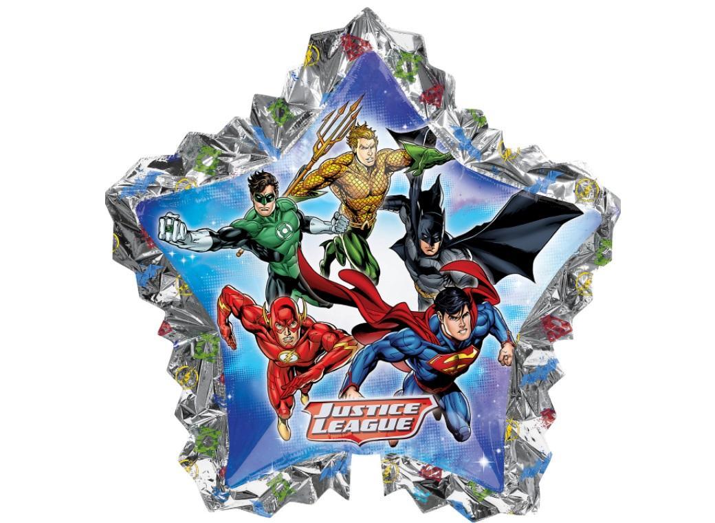 Justice League Star Shape Foil Balloon