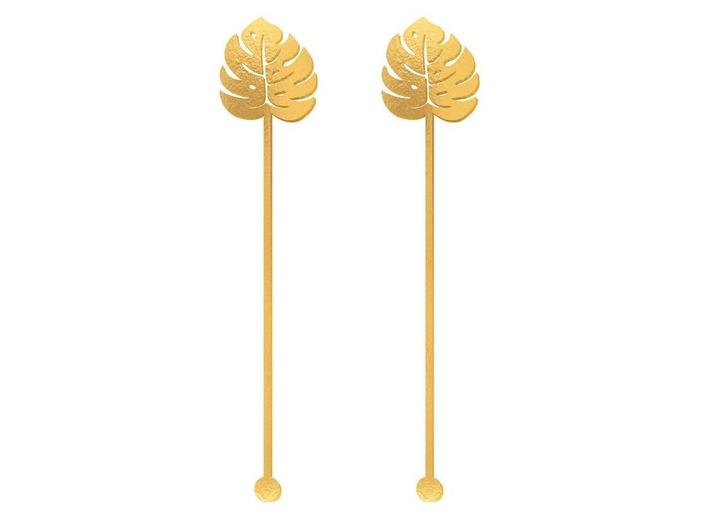 Key West Palm Leaf Drink Stirrers 12pk