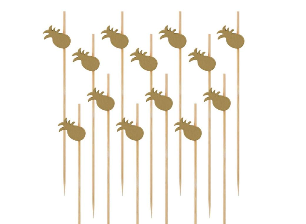 Key West Pineapple Wooden Picks 24pk