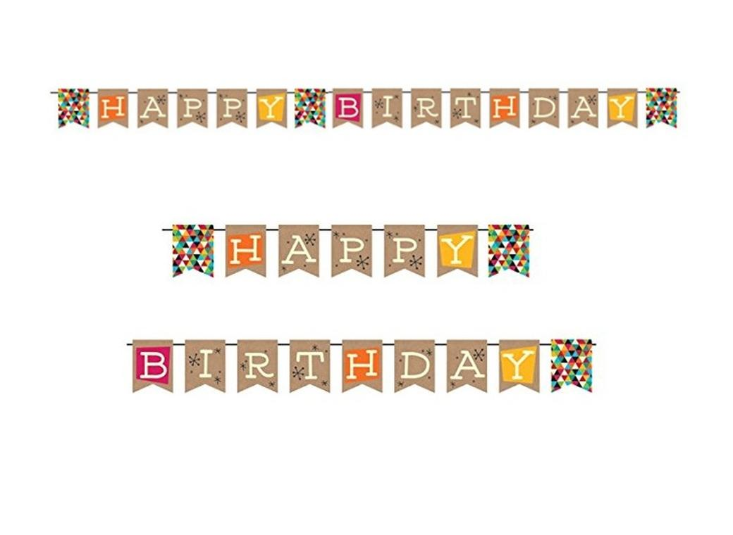 Kraft Happy Birthday Pennant Banner