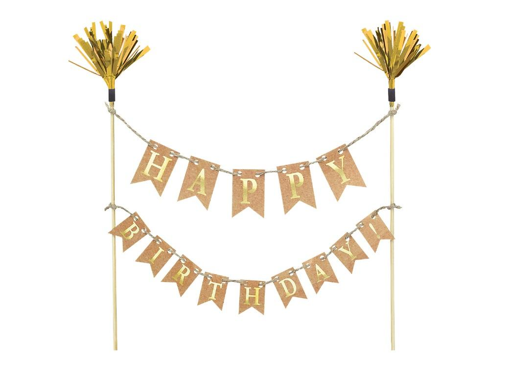 Kraft Happy Birthday Pennant Cake Topper