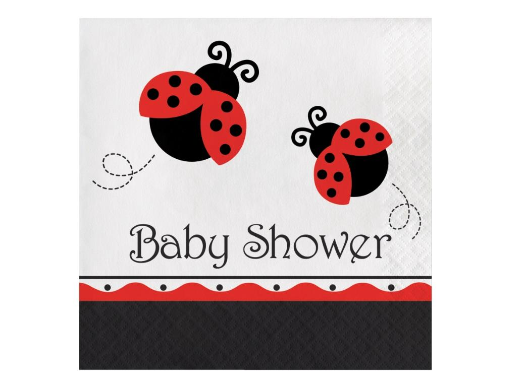 Ladybug Baby Shower Lunch Napkins