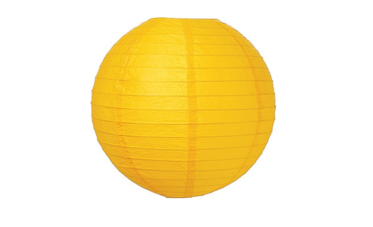 Yellow Paper Lanterns - 30cm