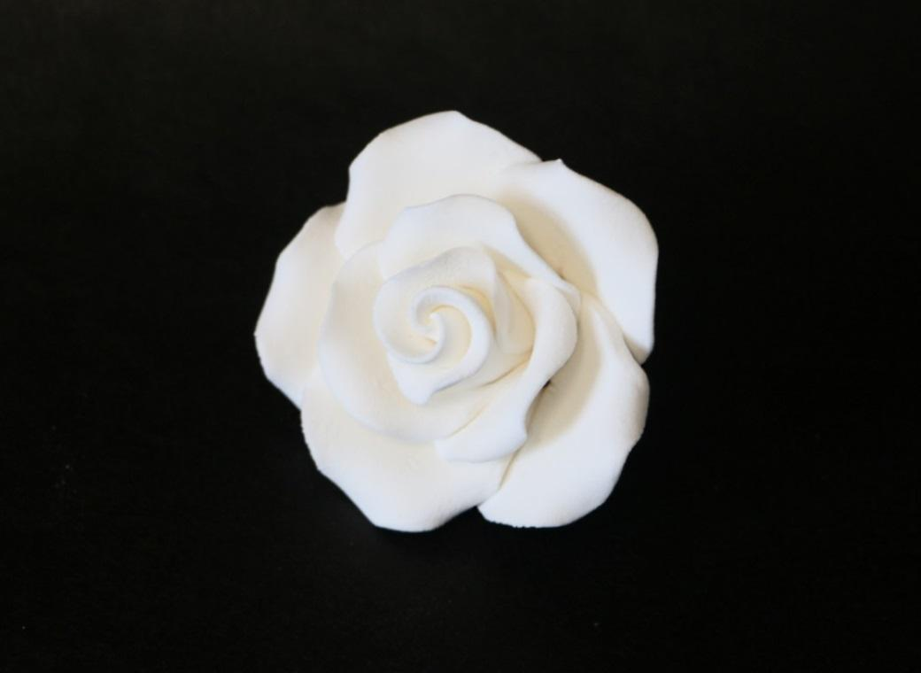 Gumpaste White Rose - Large