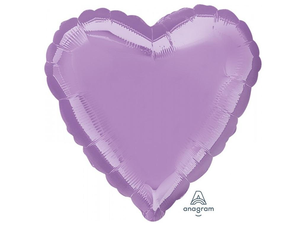 Heart Shaped Foil Balloon - Lavender