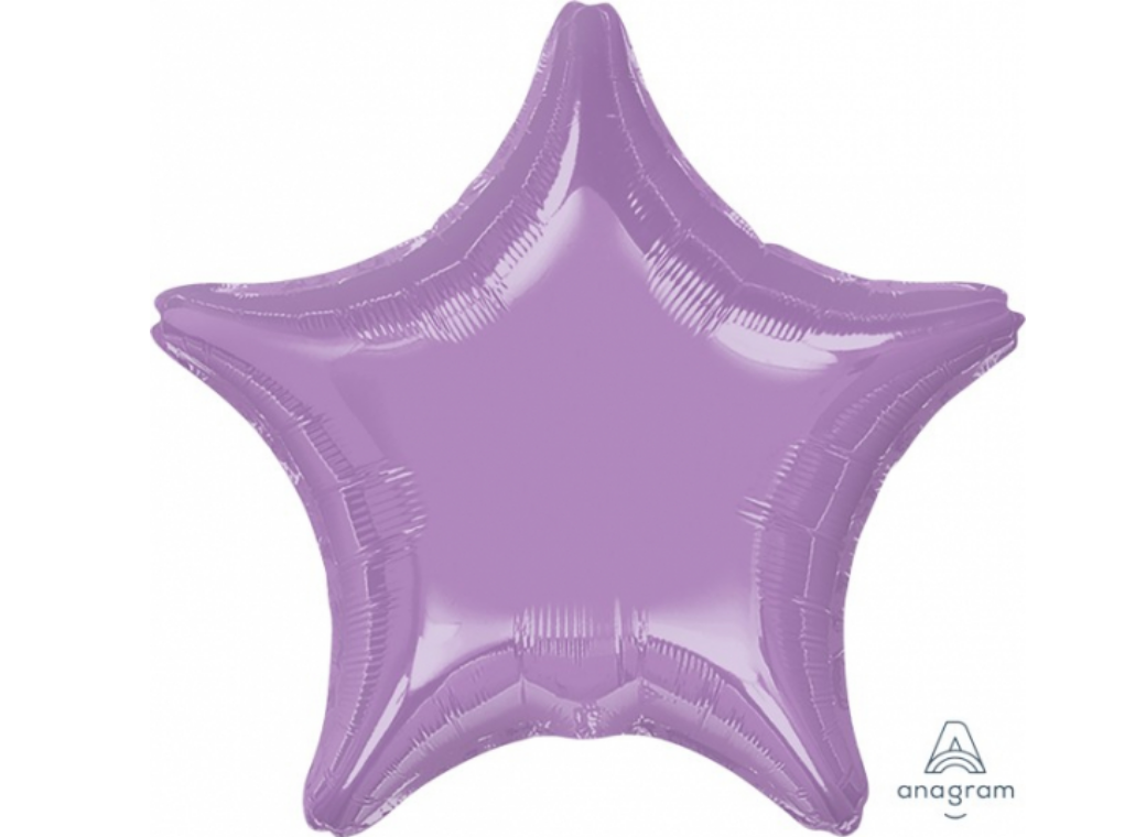 Star Shaped Foil Balloon - Pearl Lavender
