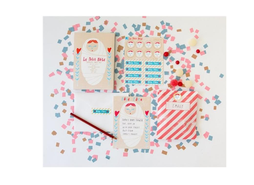 Petit Bebe Party Invite Kit