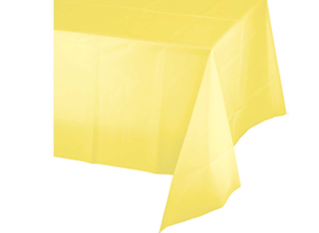 Lemon Plastic Table Cloth