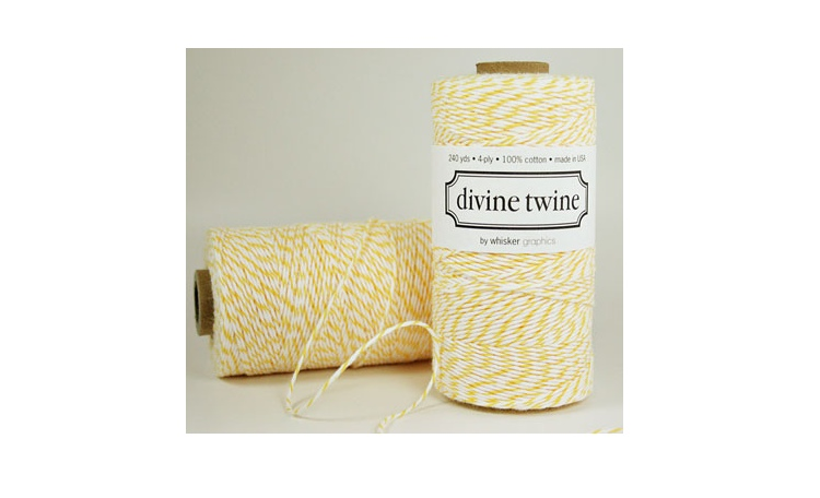 100% Cotton Bakers Twine - Lemon