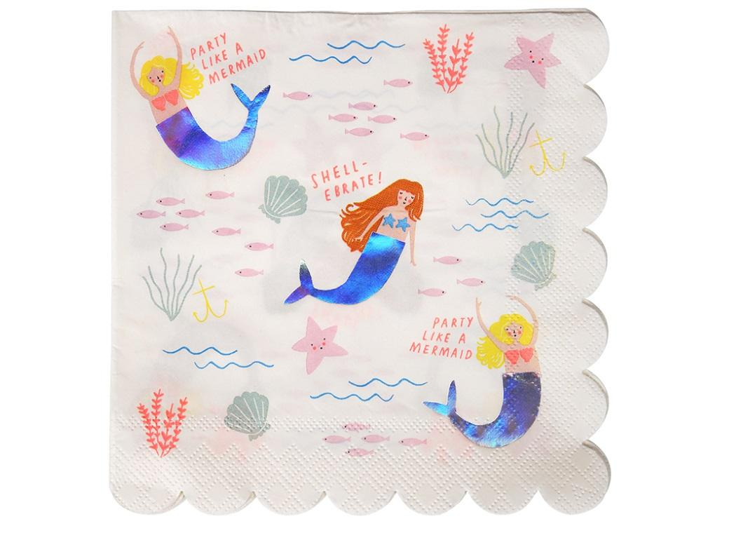 Let's Be Mermaids Large Napkins 16pk