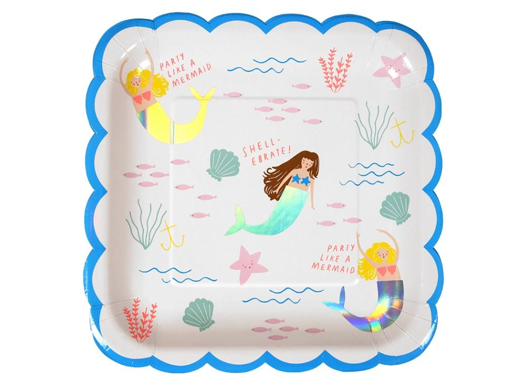 Let's Be Mermaids Large Plates 8pk