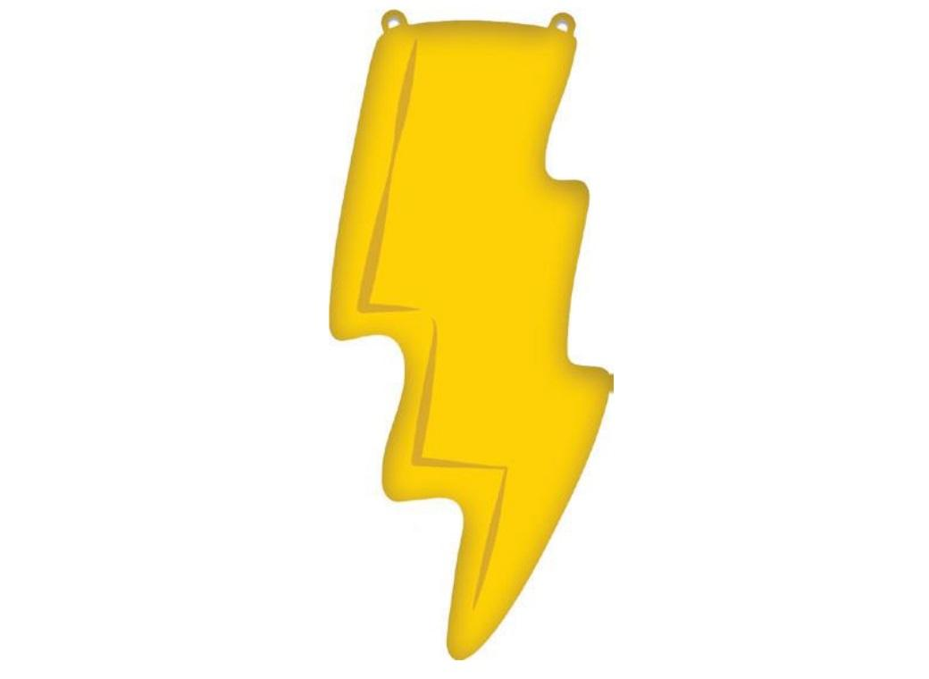 Lightning Bolt SuperShape Foil Balloon