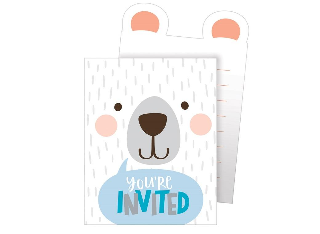 Lil Bear Invitations 8pk