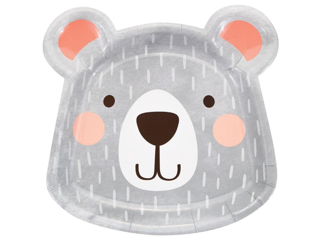 Lil Bear Shaped Plates 8pk