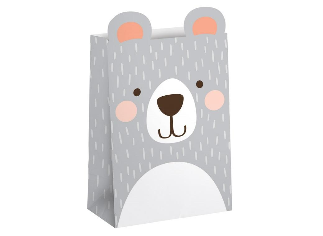 Lil Bear Paper Treat Bags 8pk