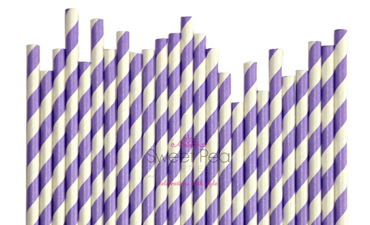 Paper Straws Lavender