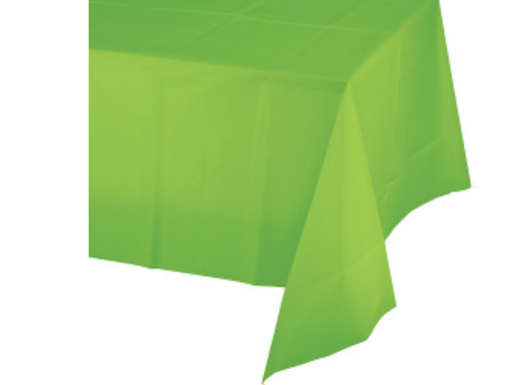 Lime Green Plastic Table Cloth