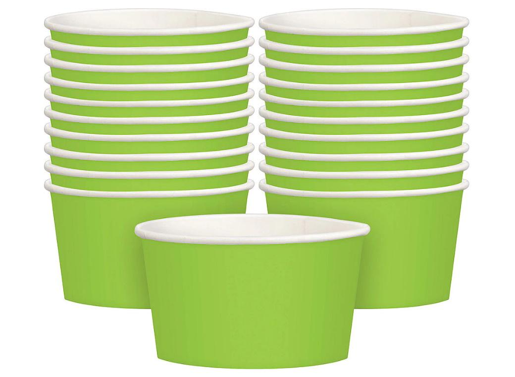 Treat Cups 20pk - Lime Green