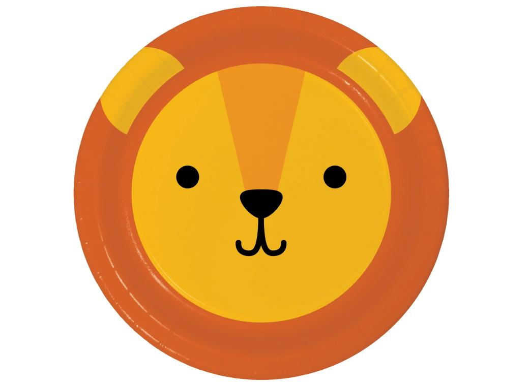 Animal Faces Lion Dinner Plates 8pk