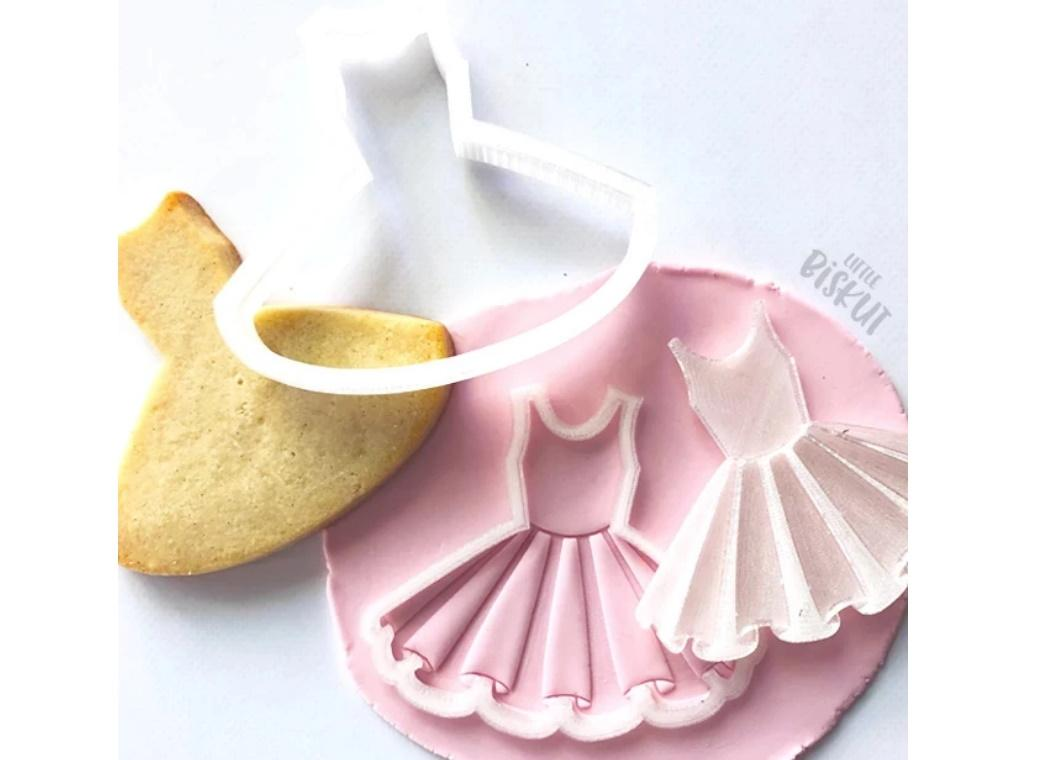Little Biskut Tutu Stamp & Cutter Set