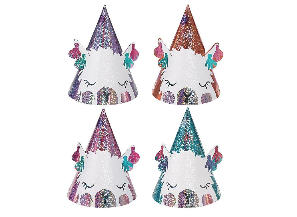 Llama Fun Mini Party Hats 8pk