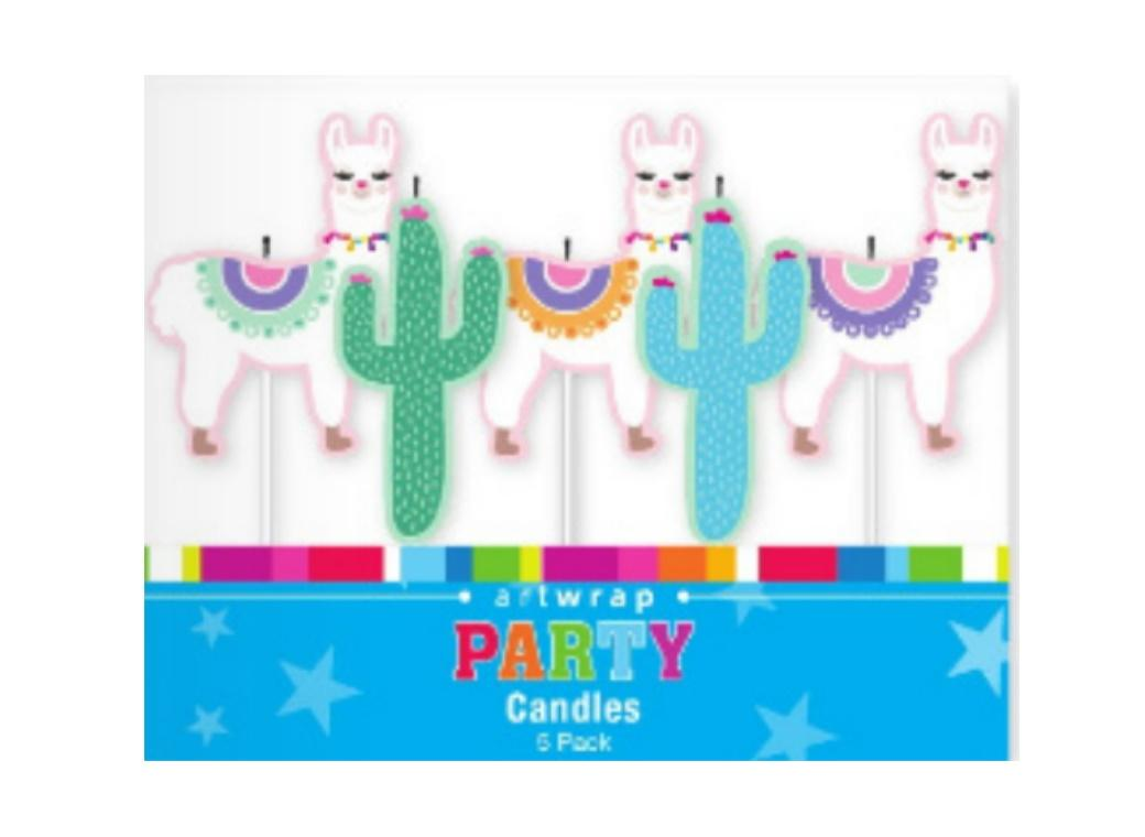 Party Candles - Llamas