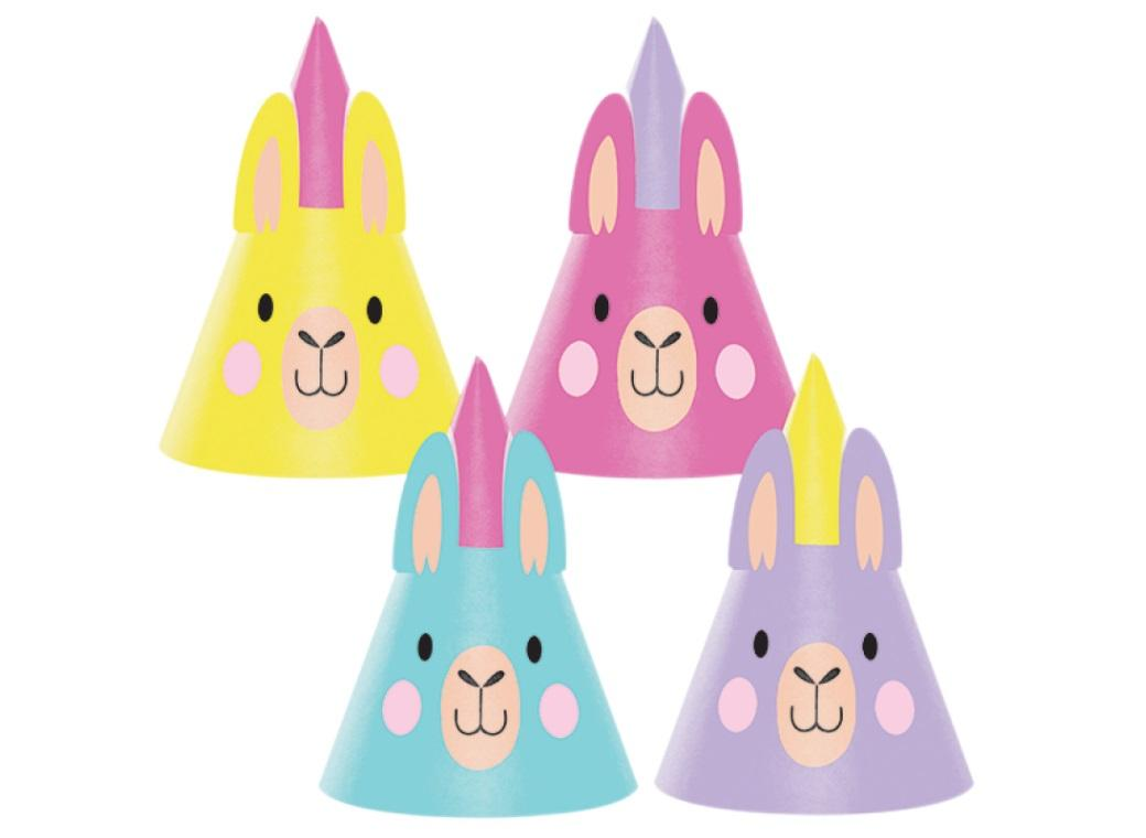 Llama Party Hats 8pk