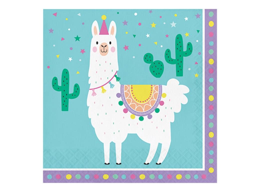 Llama Party Lunch Napkins 16pk