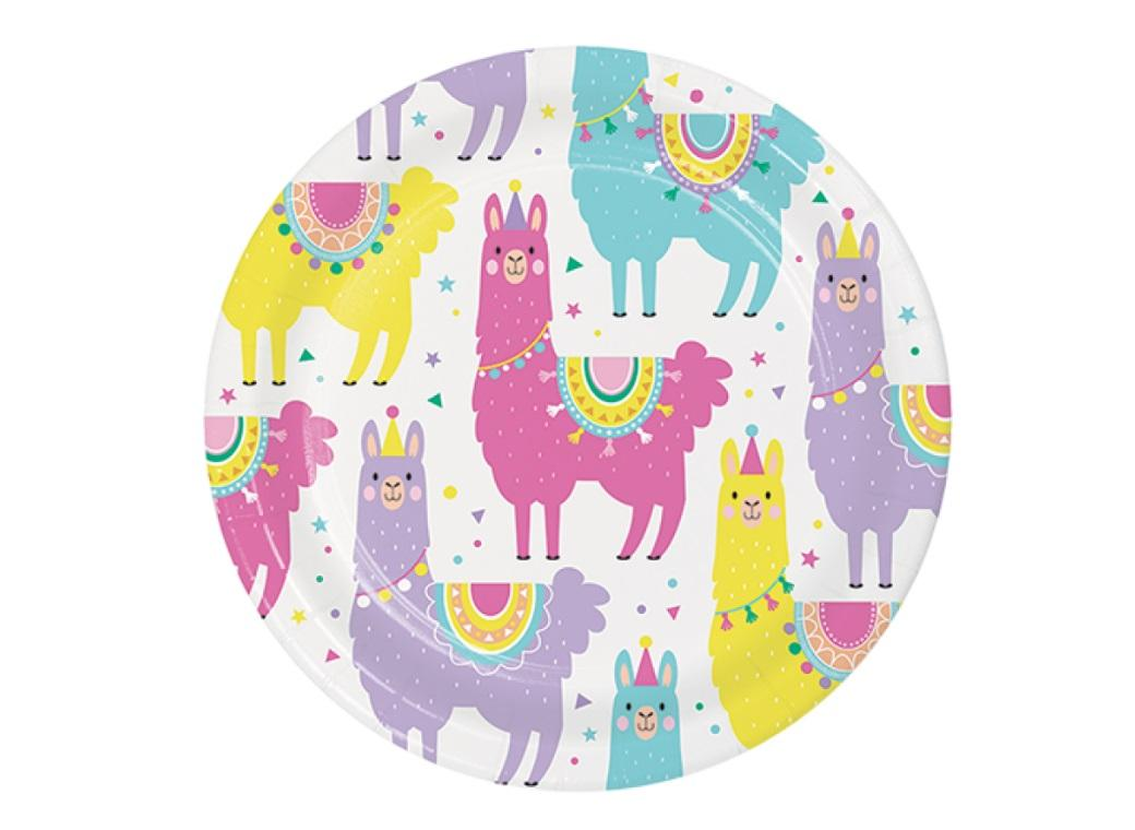 Llama Party Lunch Plates 8pk