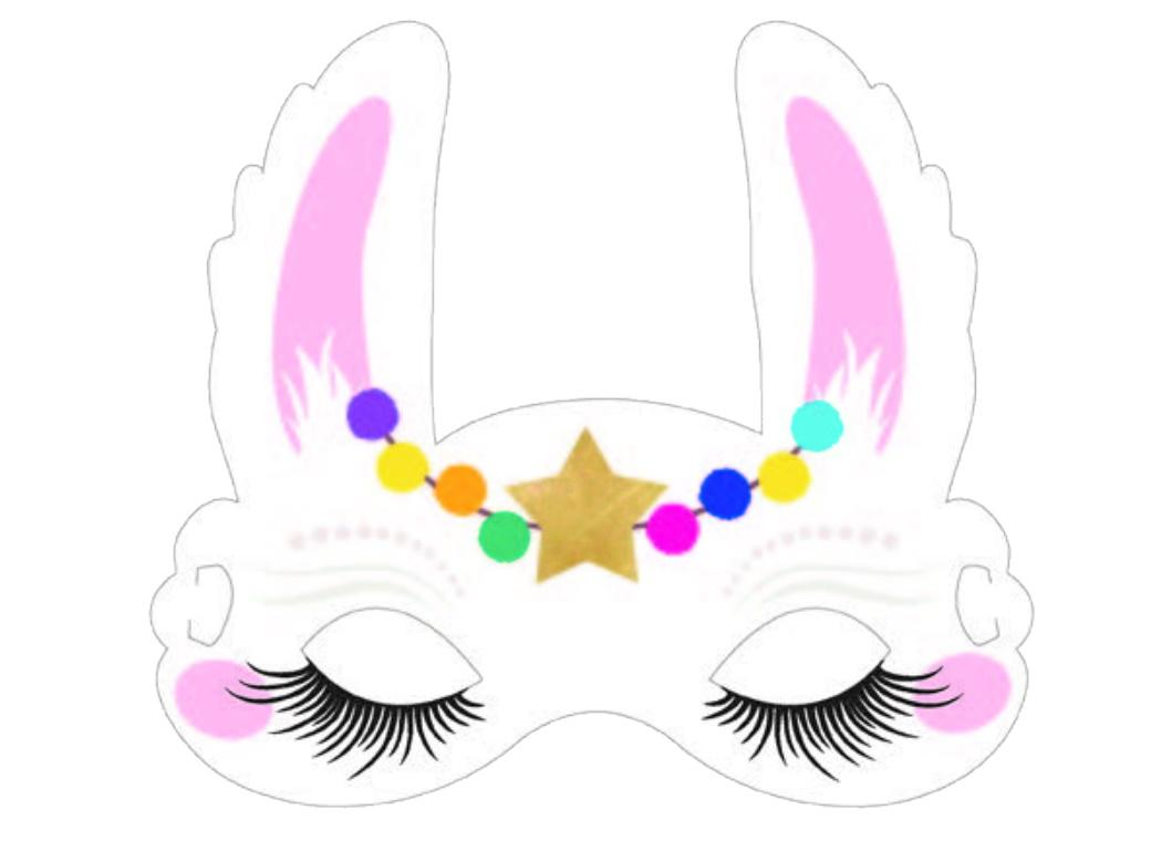 Llama Party Masks 8pk
