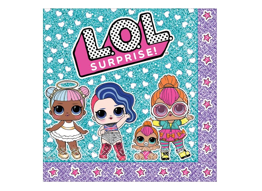LOL Surprise Lunch Napkins 16pk