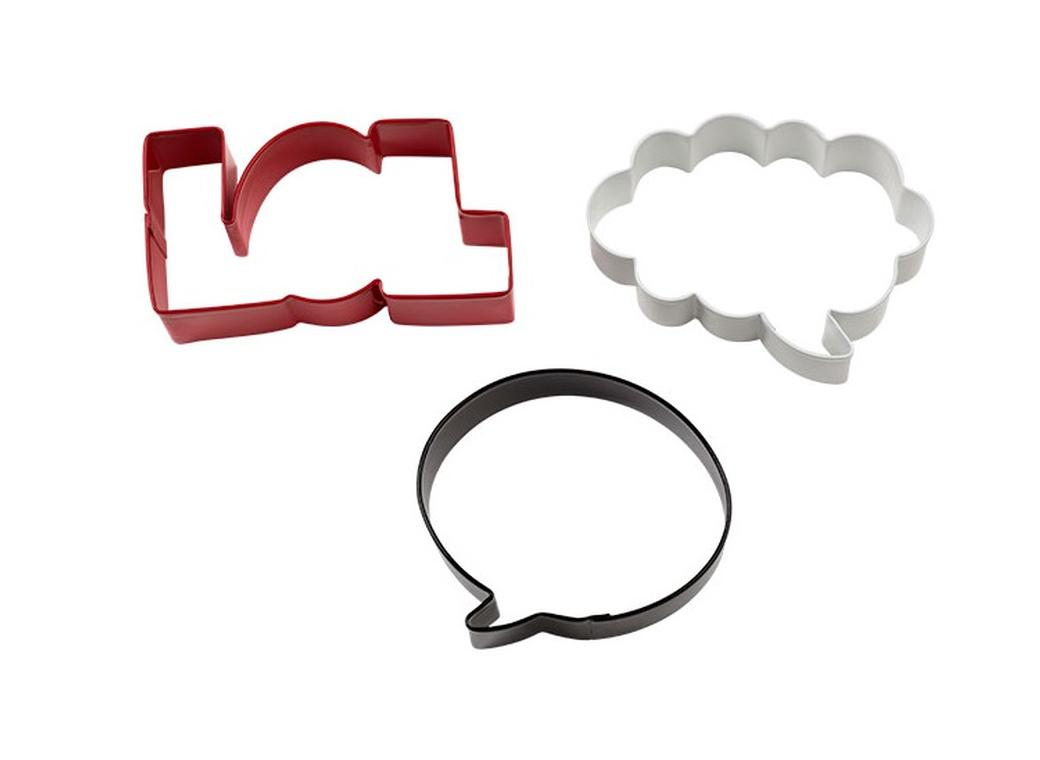 Wilton Cookie Cutter Set — Word Bubbles & LOL