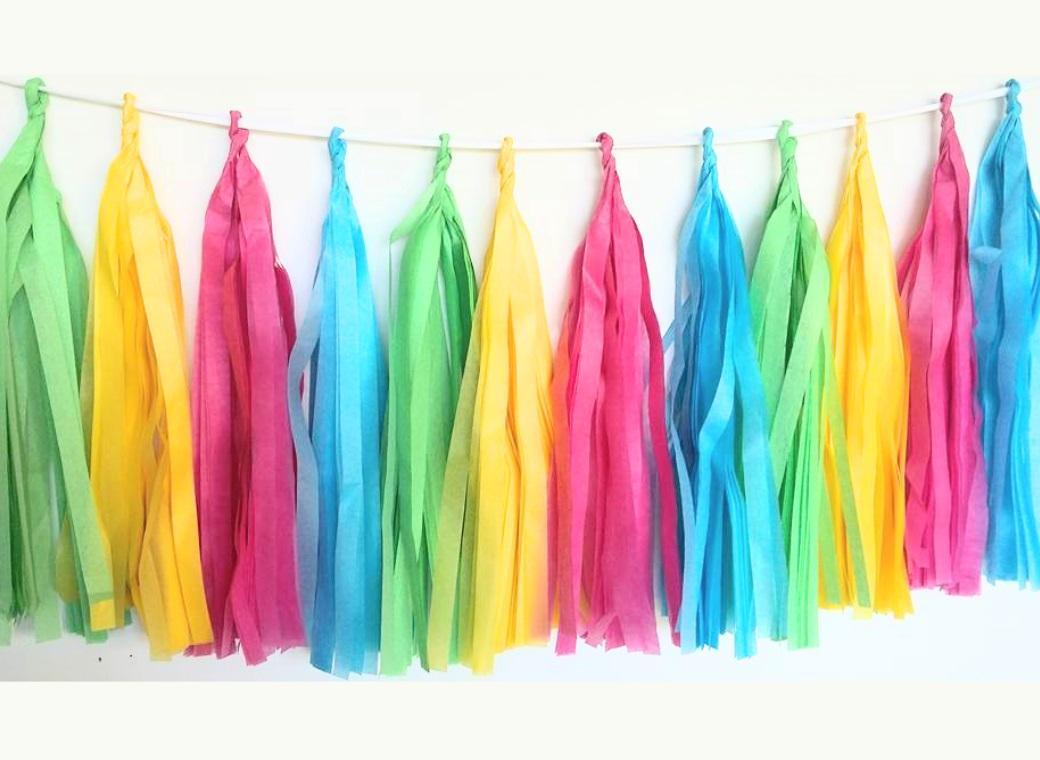Tissue Tassel Garland - Lollipop