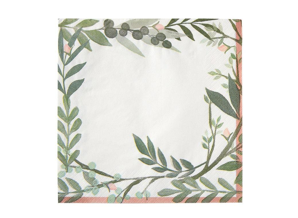 Love & Leaves Lunch Napkins 16pk