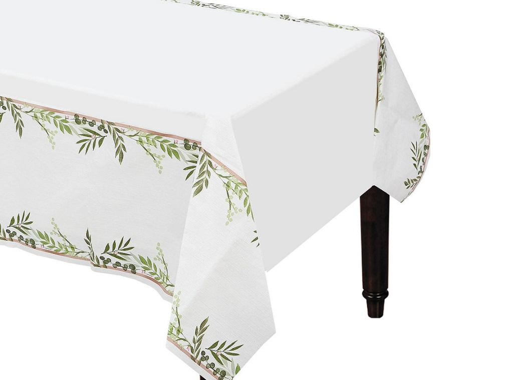 Love & Leaves Paper Tablecover