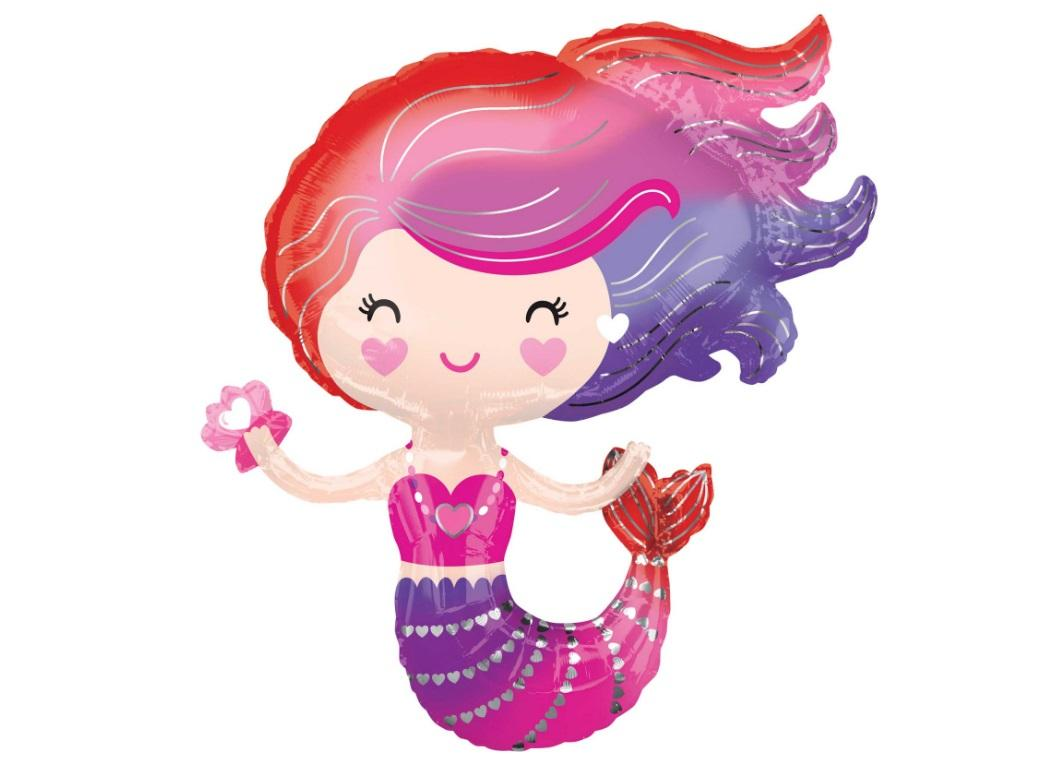 Lovely Mermaid SuperShape Foil Balloon