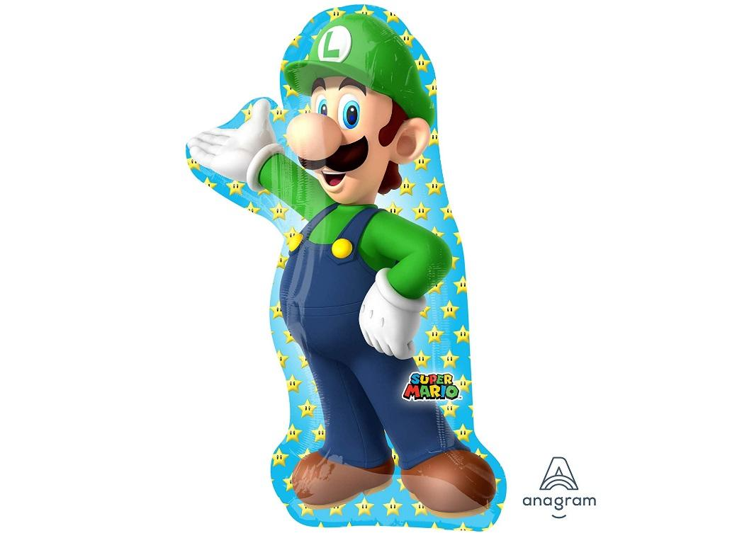 Luigi SuperShape Foil Balloon