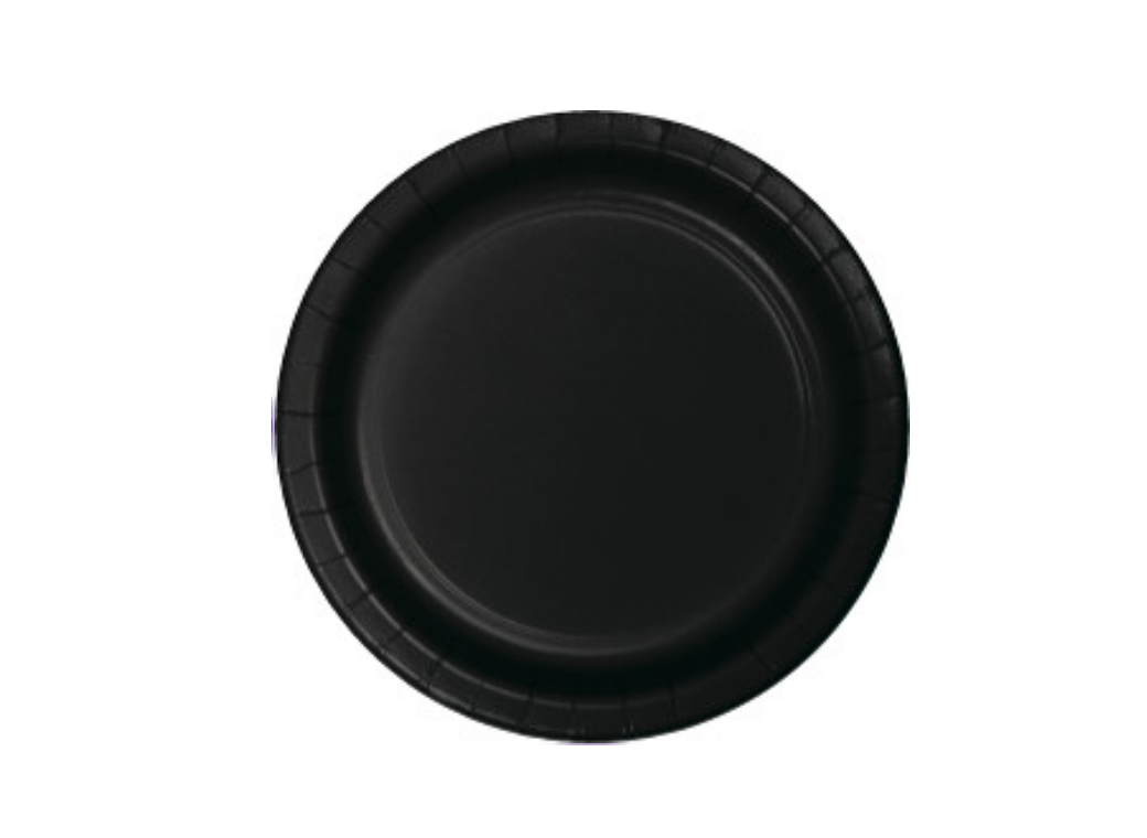 Lunch Plate - Black - 12pk