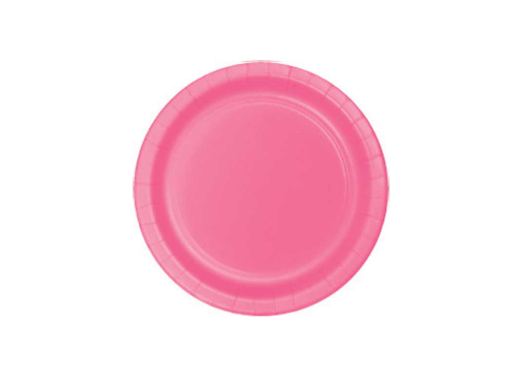 Lunch Plate - Candy Pink - 12pk