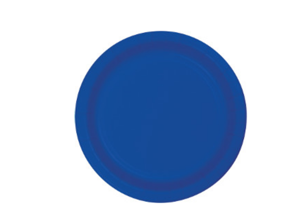 Lunch Plates - Royal Blue - 20pk